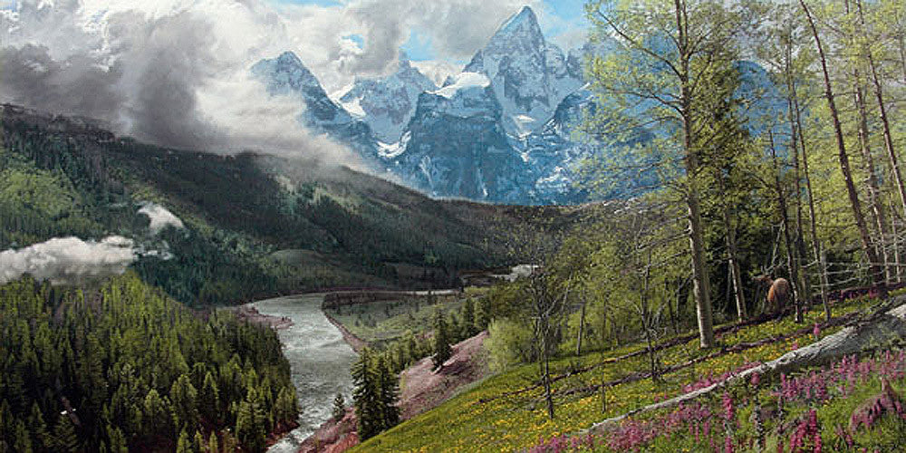 Springtime in the Tetons by Phillip Philbeck