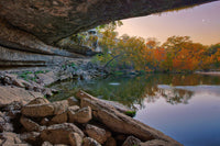 Moonset Over Hamilton Pool by Rob Greebon