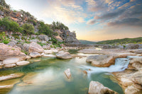 Pedernales Falls - Morning in August 1 by Rob Greebon