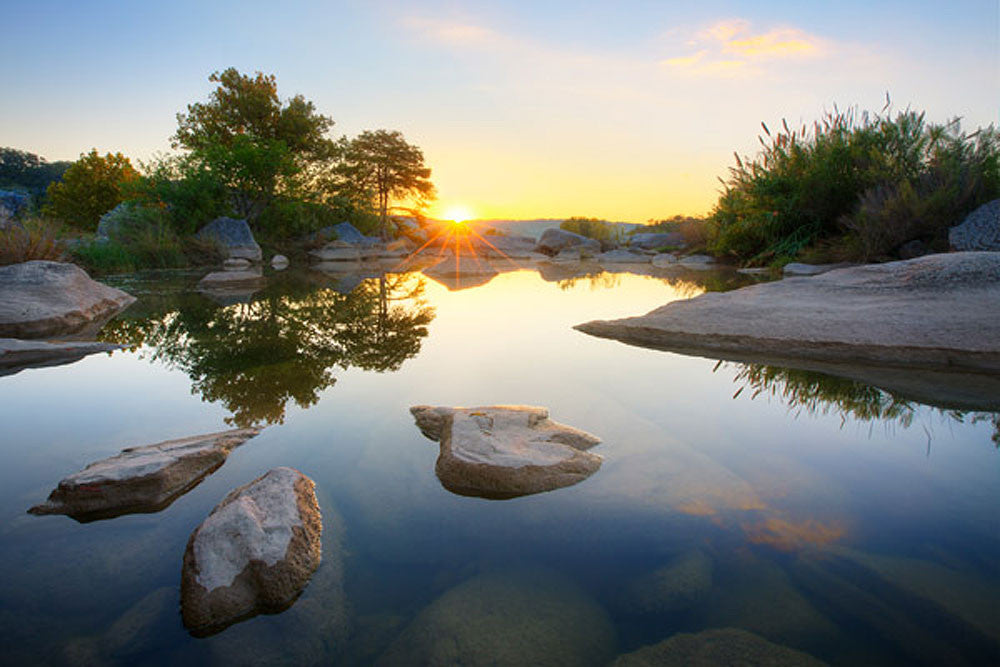 Pedernales Falls - Oasis Sunrise in October 1 by Rob Greebon