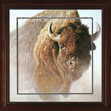 Chief – Framed Print with Bleed Matting by Robert Bateman