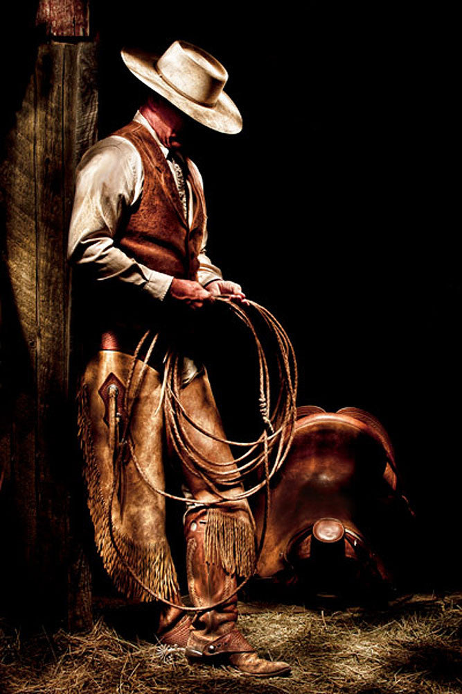 Cowboy With A Rope by Robert Dawson