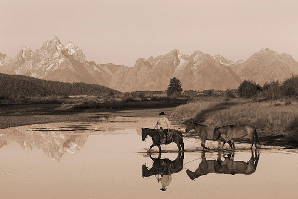 River Crossing II Sepia by Robert Dawson