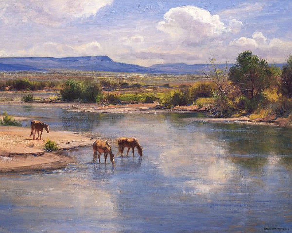 On the Little Colorado by Robert Peters