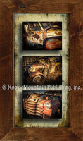 Rustic Trucks – Triple Giclee Canvas Framed Art Prints by Dan Ballard
