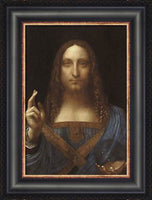 Salvator Mundi Custom Framed Giclee Canvas by Leonardo Da Vinci