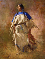 Shield of Her Husband Art Prints by Howard Terpning