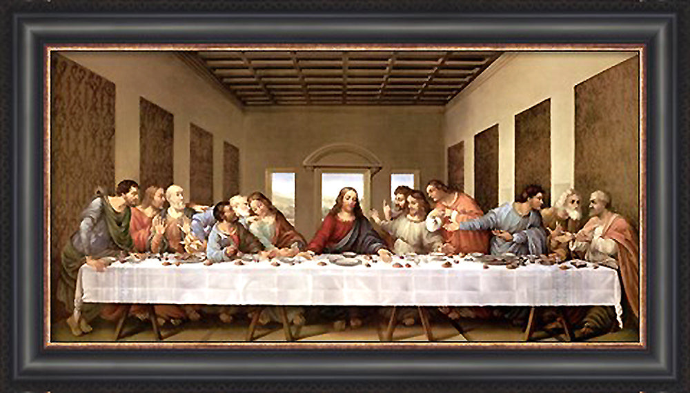 The Last Supper Custom Framed Giclee Canvas by Leonardo Da Vinci