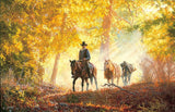 Autumn Morning Ride by Tim Cox