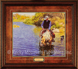 Custom Framed Peaceful Waters Print by Tim Cox