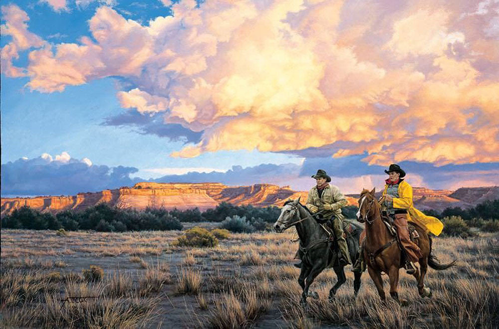 Racing Sundown by Tim Cox