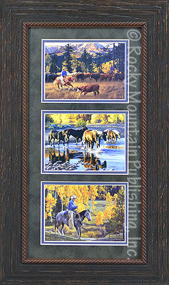 Tall Timber Tango – Triple Framed Set by Tim Cox