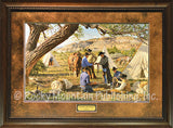 Custom Framed Trading Treasures Print by Tim Cox