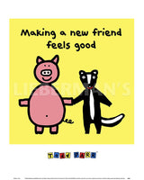 Making a New Friend Feels Good Art Prints by Todd Parr