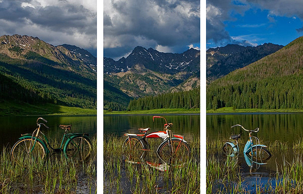 Piney Lake Triptych by Todd Van Fleet