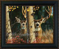Among the Aspens – Framed Giclee Canvas by Tom Mansanarez