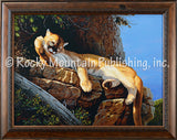 Cats Bath – Framed Giclee Canvas by Tom Mansanarez