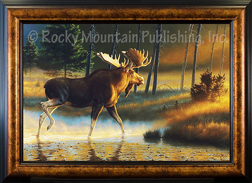 Golden Rays – Framed Giclee Canvas by Tom Mansanarez