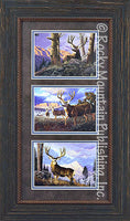 Mule Deer – Framed Triple by Tom Mansanarez