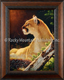 On Alert – Framed Giclee Canvas by Tom Mansanarez