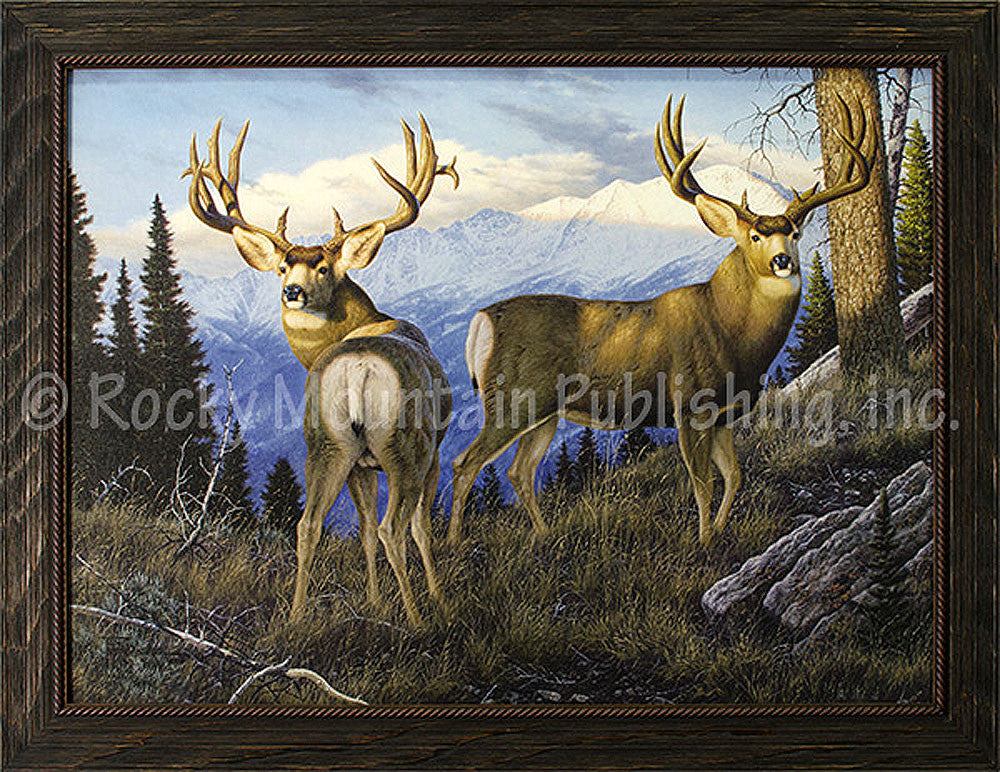 Parting Company – Framed Giclee Canvas by Tom Mansanarez