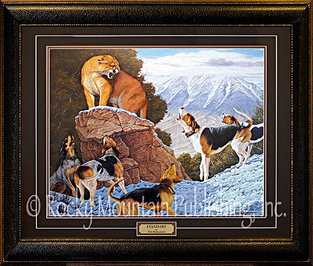 Stand Off – Framed Print by Tom Mansanarez