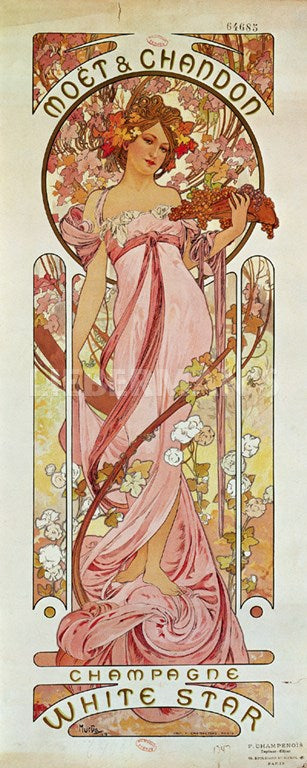 Moet & Chandon Art Nouveau by Alphonse Mucha