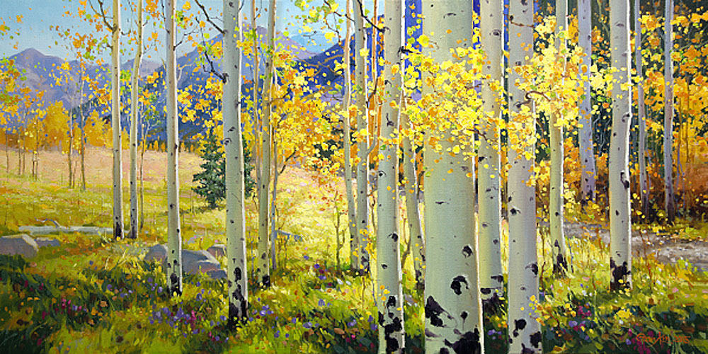 Afternoon Aspen Art Prints by Gary kim