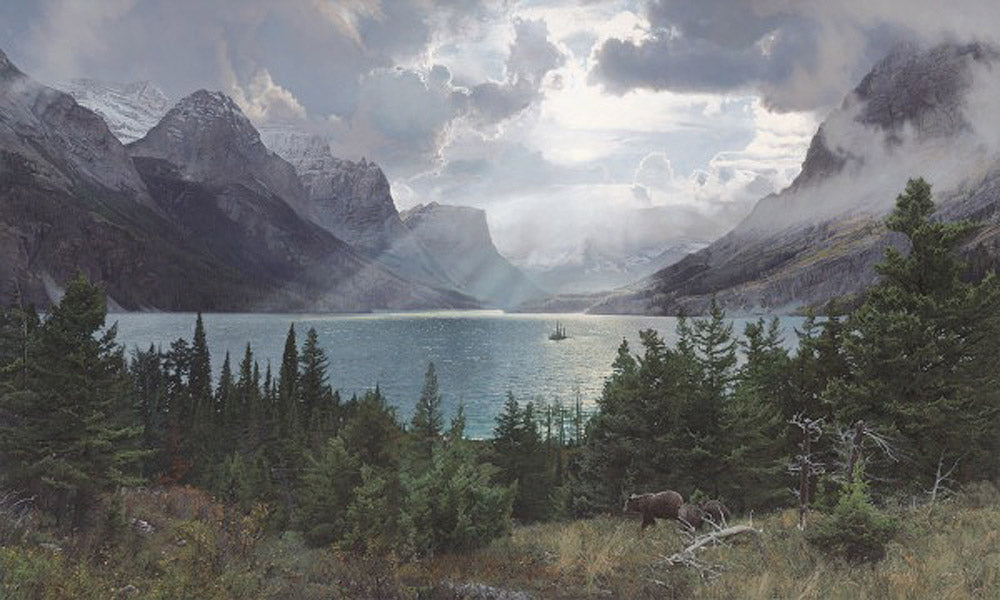 Afternoon at Saint Mary Lake Art Prints by Phillip Philbeck