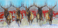 Antlers and Brothers Art Prints by Amy Lay Artist