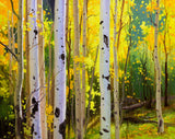 Aspens in Santa Fe Forest Art Prints by Gary Kim
