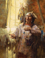 Calling the Buffalo Art Prints by Howard Terpning