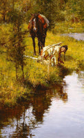 Caution Born of Necessity Art Prints by Howard Terpning