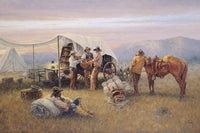 Chuckwagon Serenade Art Prints by Jack Terry