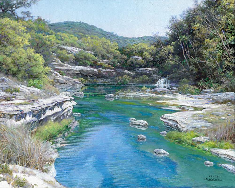 Emerald Stream Art Prints by Larry Dyke