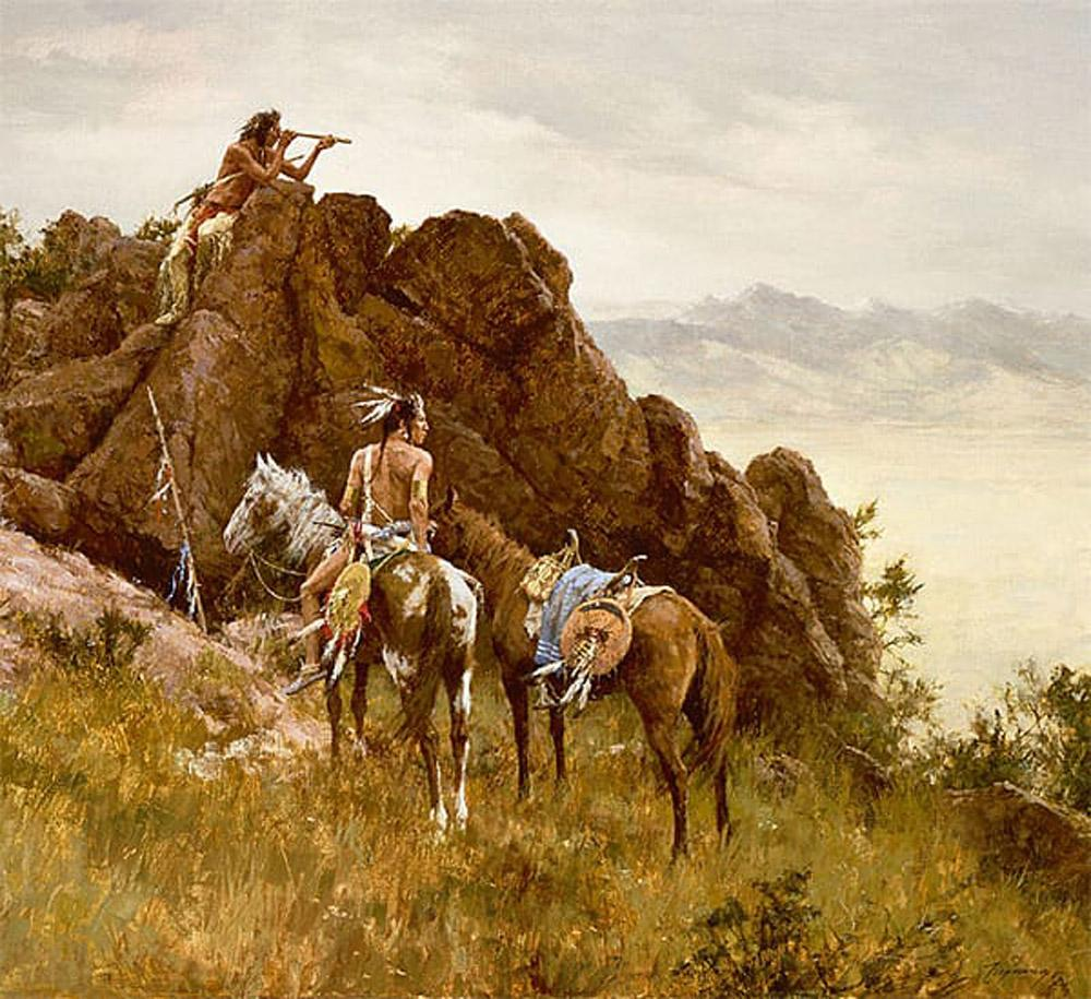 Far Seeing Glass Art Prints by Howard Terpning
