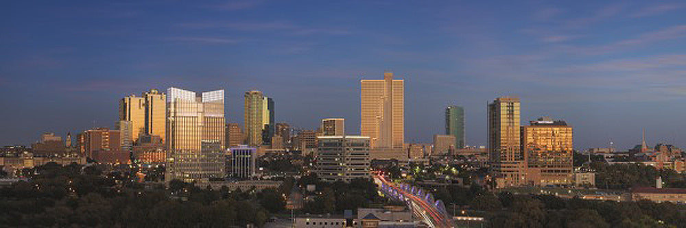 Ft Worth Skyline at Dusk Art Prints by Rob Greebon Artist