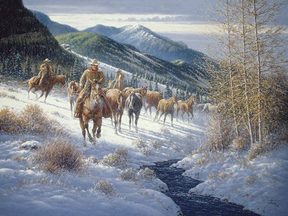 High Country Cowboys Art Prints by Jack Terry