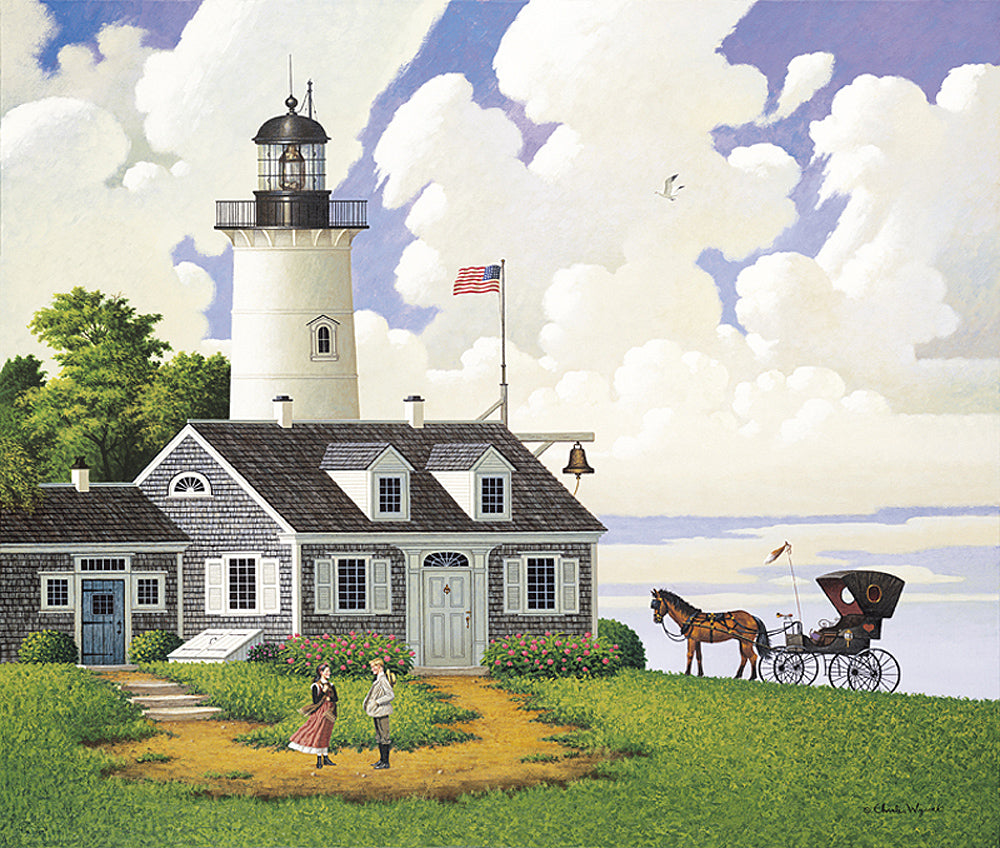 Jayson Sparkin the Lighthouse Keepers Daughter Art Prints By Charles Wysocki Artist