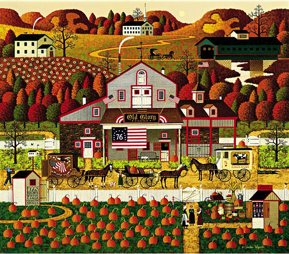 Old Glory Farms Art Prints By Charles Wysocki Artist
