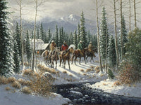 Out on the Trail Art Prints by Jack Terry