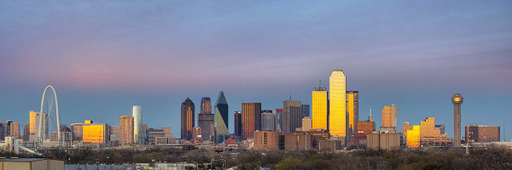 Panorama of Dallas Texas Art Prints by Rob Greebon Artist