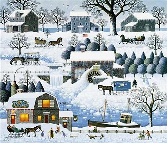 Plumbelly's Playground Art Prints By Charles Wysocki Artist