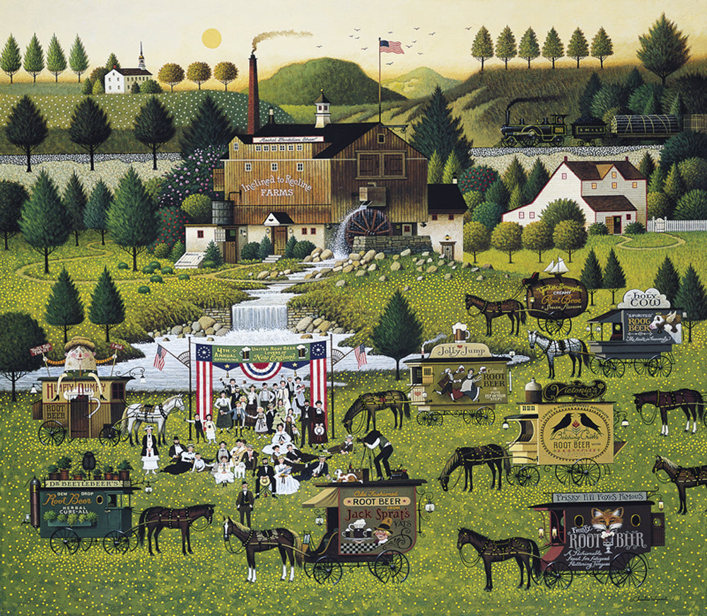 Rally at Dandelion Mill Art Prints By Charles Wysocki Artist