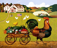 Rooster Express Art Prints By Chargles Wysocki Artist