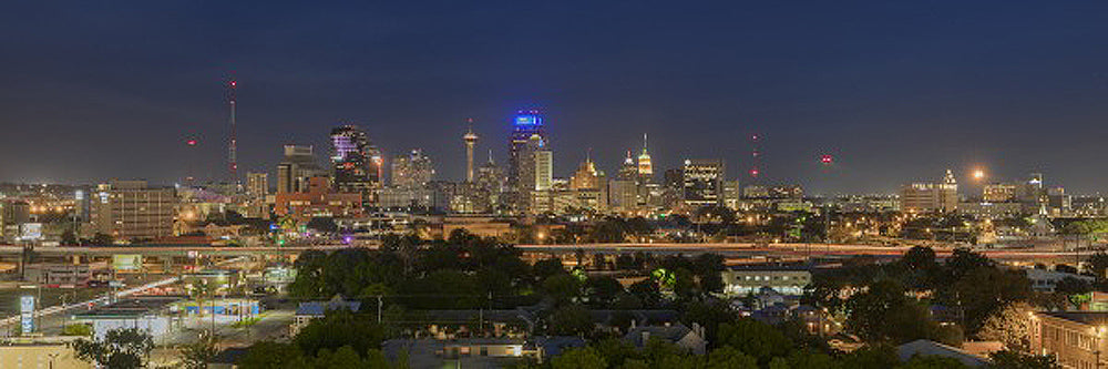 San Antonio Skyline on a Summer Night Art Prints by Rob Greebon Artist