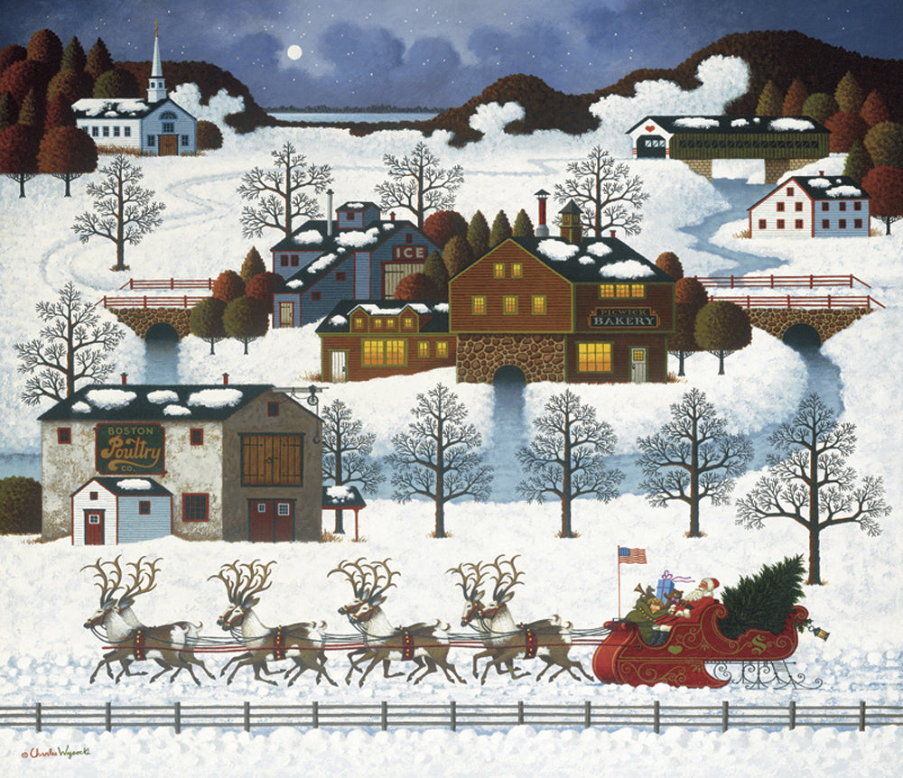 Santas Coming to Town Art Prints By Charles Wysocki Artist