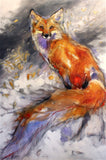 The Grey Wind Fox Art Prints by Amy Lay Artist