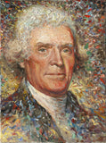 Thomas Jefferson portrait by artist Larry Dyke