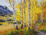 Trail Through Golden Aspen Art Prints by Gary Kim